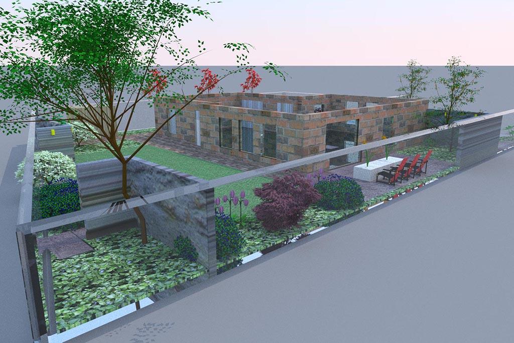 Keramische tegels tuin ontwerp for Ontwerp tuin