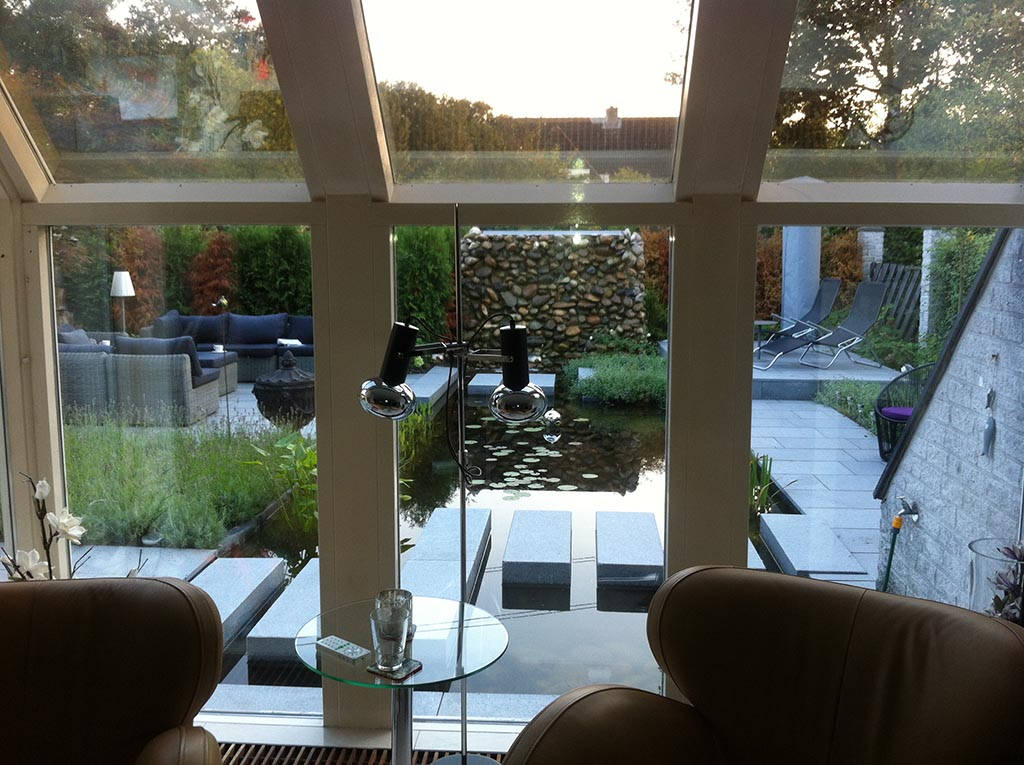 Keramische tegels tuin renoveren in breda regenwulp for Moderne vijvers foto s