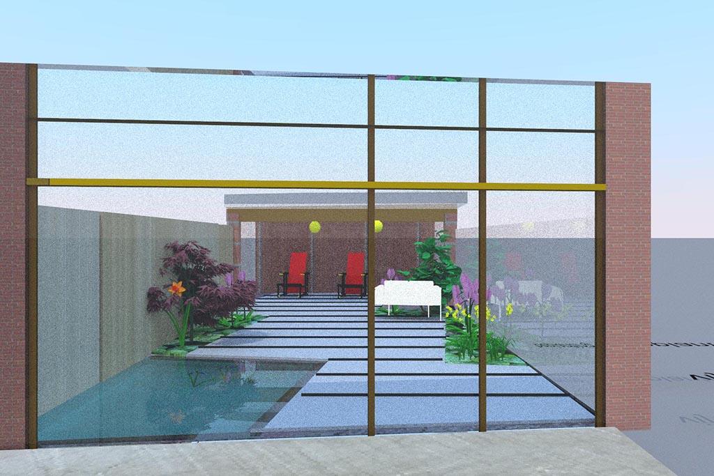Keramische tegels tuin ontwerp for Tuinontwerpen utrecht