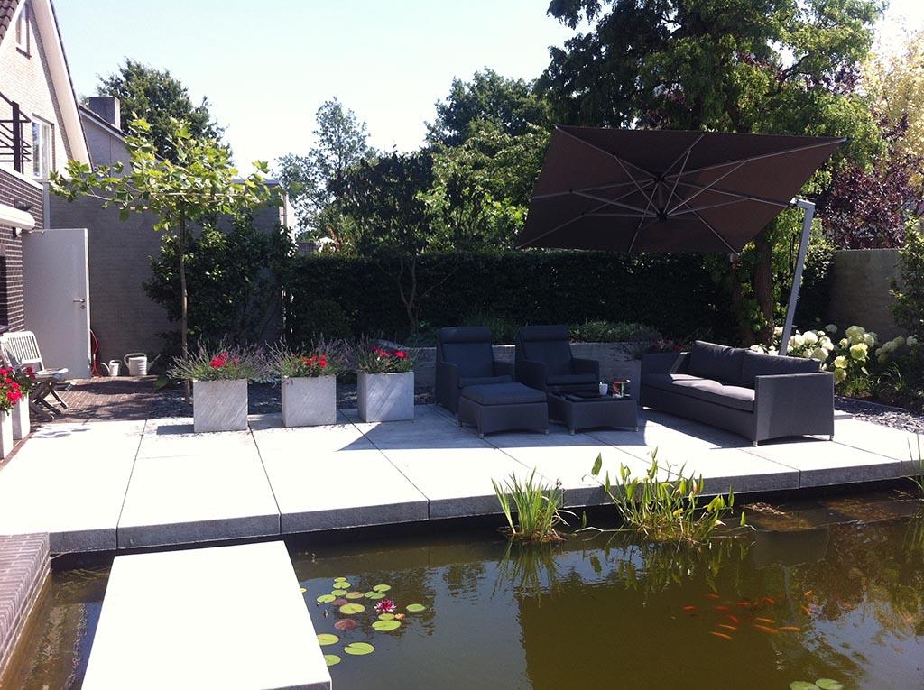 Keramische Tegels Moderne Strakke Design Tuin Bij Villa In Goirle