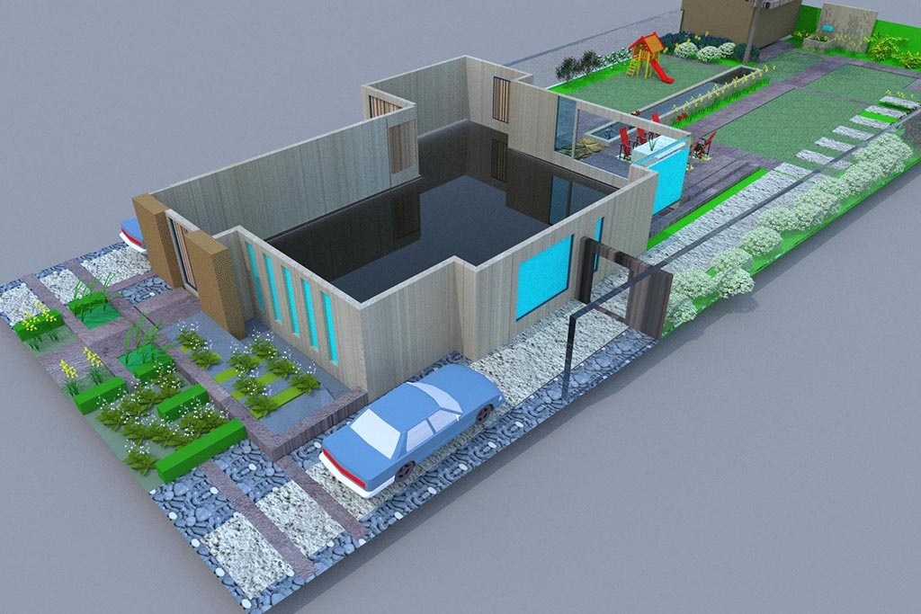 Keramische tegels tuinontwerp 2 en 3d in geldrop for 3d tuin ontwerpen