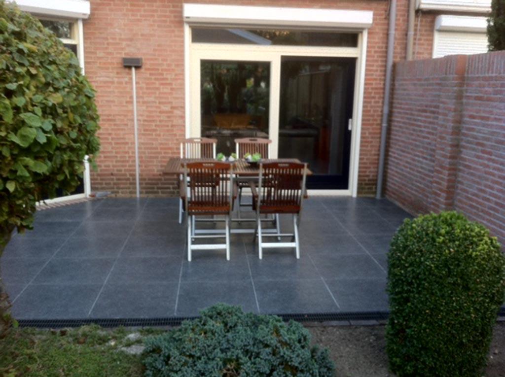 Keramische tegels tuin overkapping op maat - Voorbeeld van terras ...