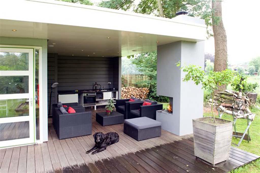 Voorbeelden van tuinoverkappingen tuinhuizen tuin schuren - Keramische ...