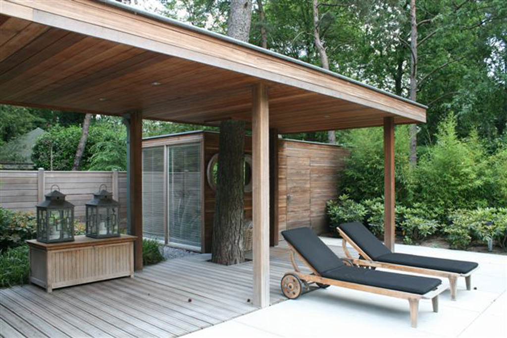 Wij plaatsen de luxe tuinoverkappingen, moderne tuinhuizen en ...