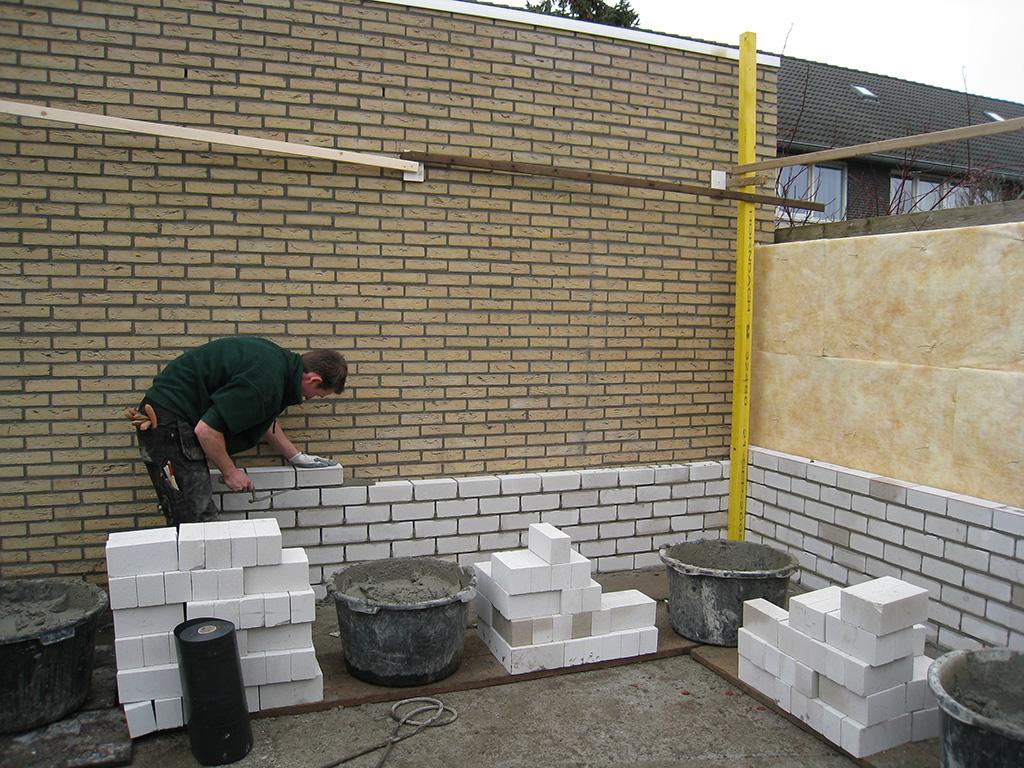 Stenen Muur Voor Binnen : Metselen Muur